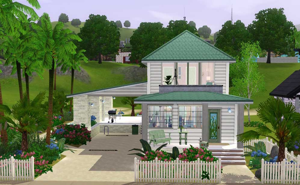 Mod The Sims Beachy Styley 3 Bedroom Beach Cottage