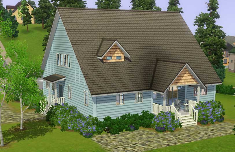 Mod the sims big family small budget 5 bedroom house for Build a house for under 50k