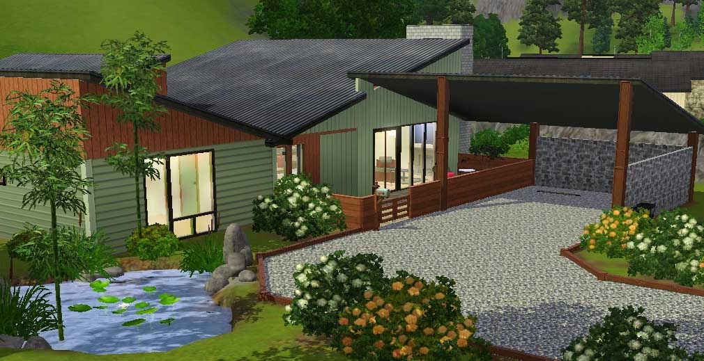 Mod The Sims Green Tea Modern 3 Bedroom With Light