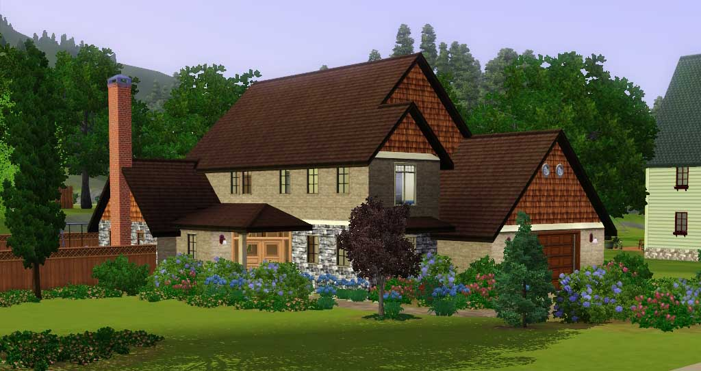 Mod the sims 39 surrounded by family 39 large house for for House for two families