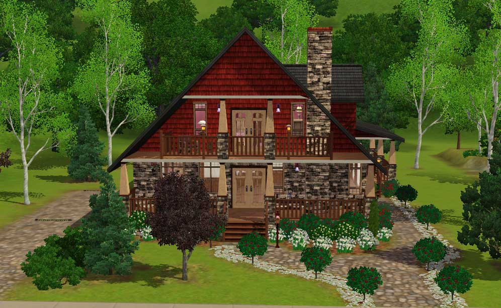 Mod The Sims - \'Briar Rose\' 4 bedroom Craftsman