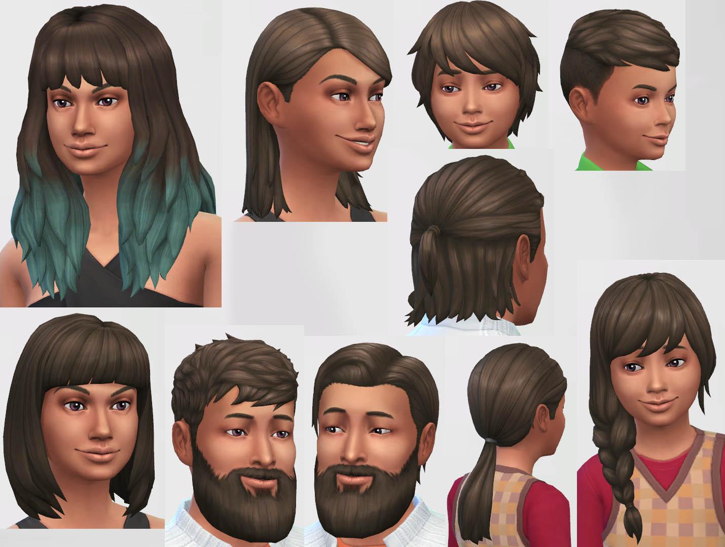 Архив причёсок для симс 3