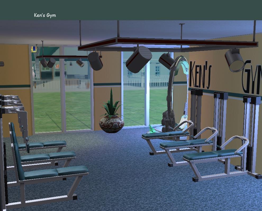 Mod the sims community lot ken s gym