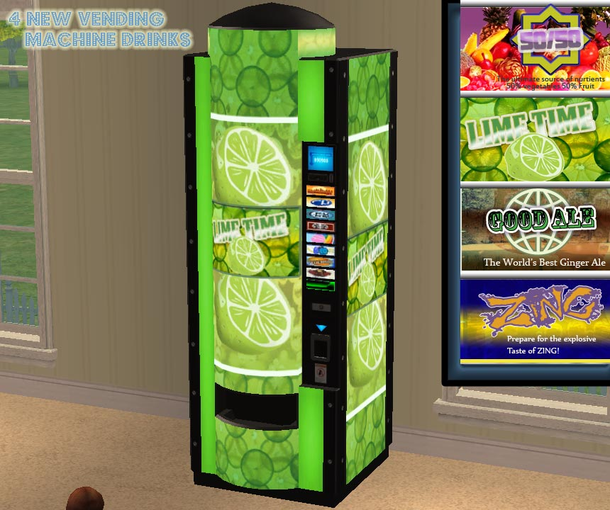 Mod The Sims 4 Vending Machine Drinks And Vending
