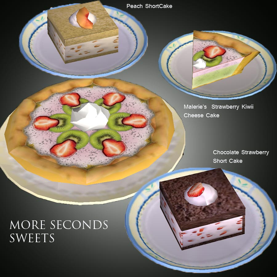 Mod The Sims Maleries Sweets 2 Shortcakes And A Cheesecake