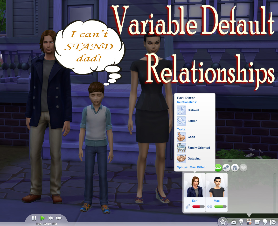Mod The Sims - Variable Default Relationships Mod