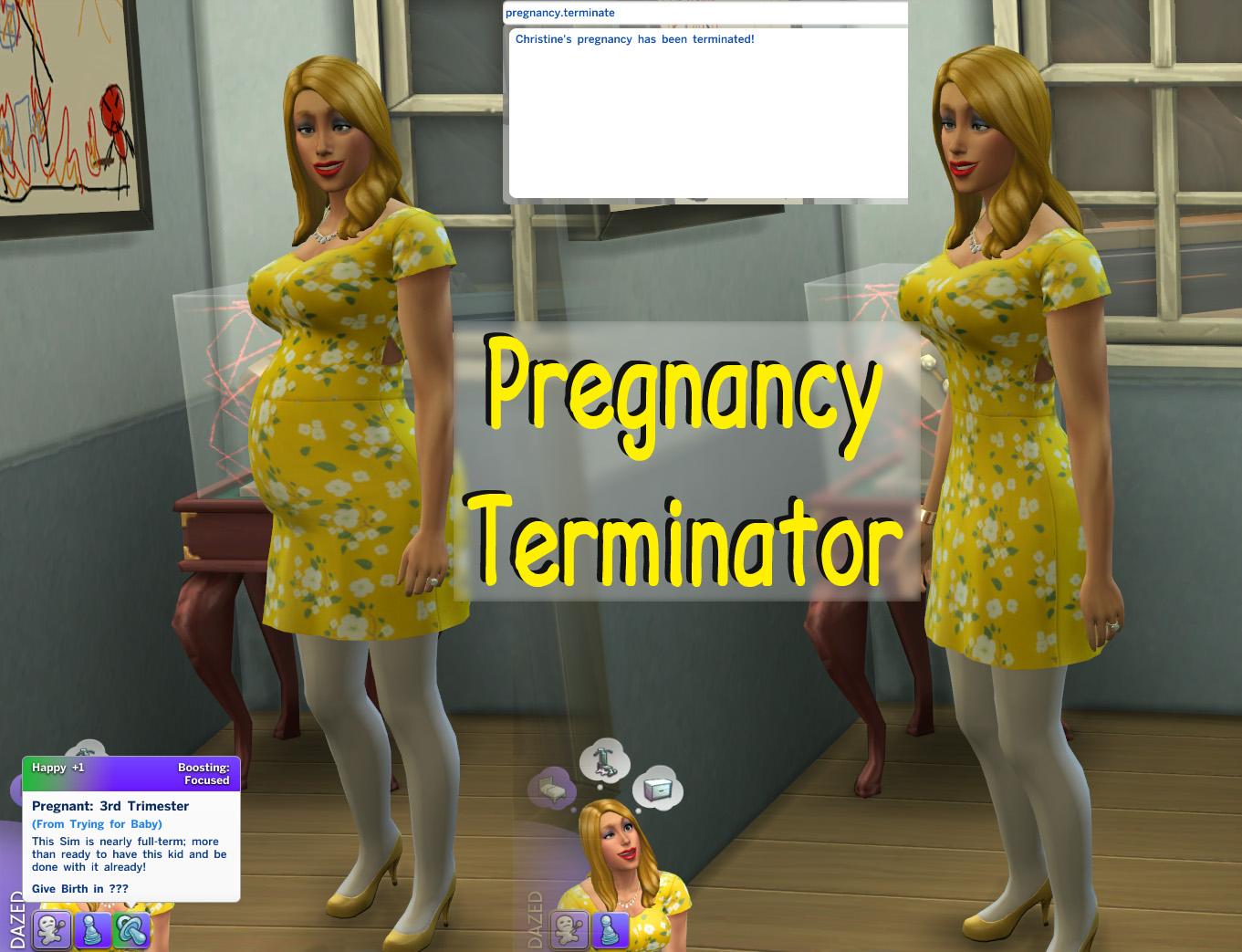 Контроль беременности sims 4