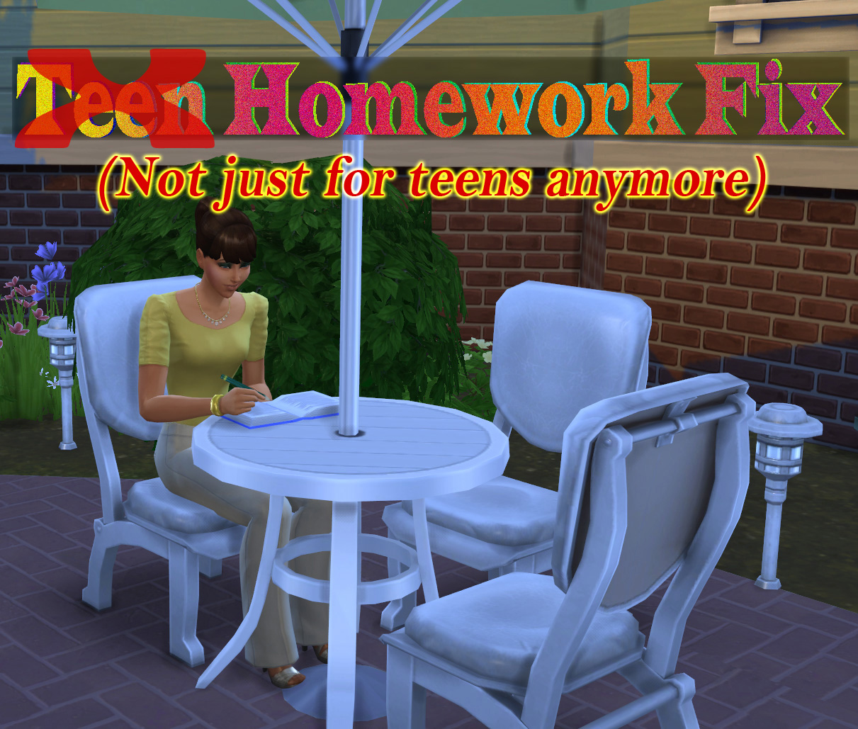 the sims 2 how to delete homework