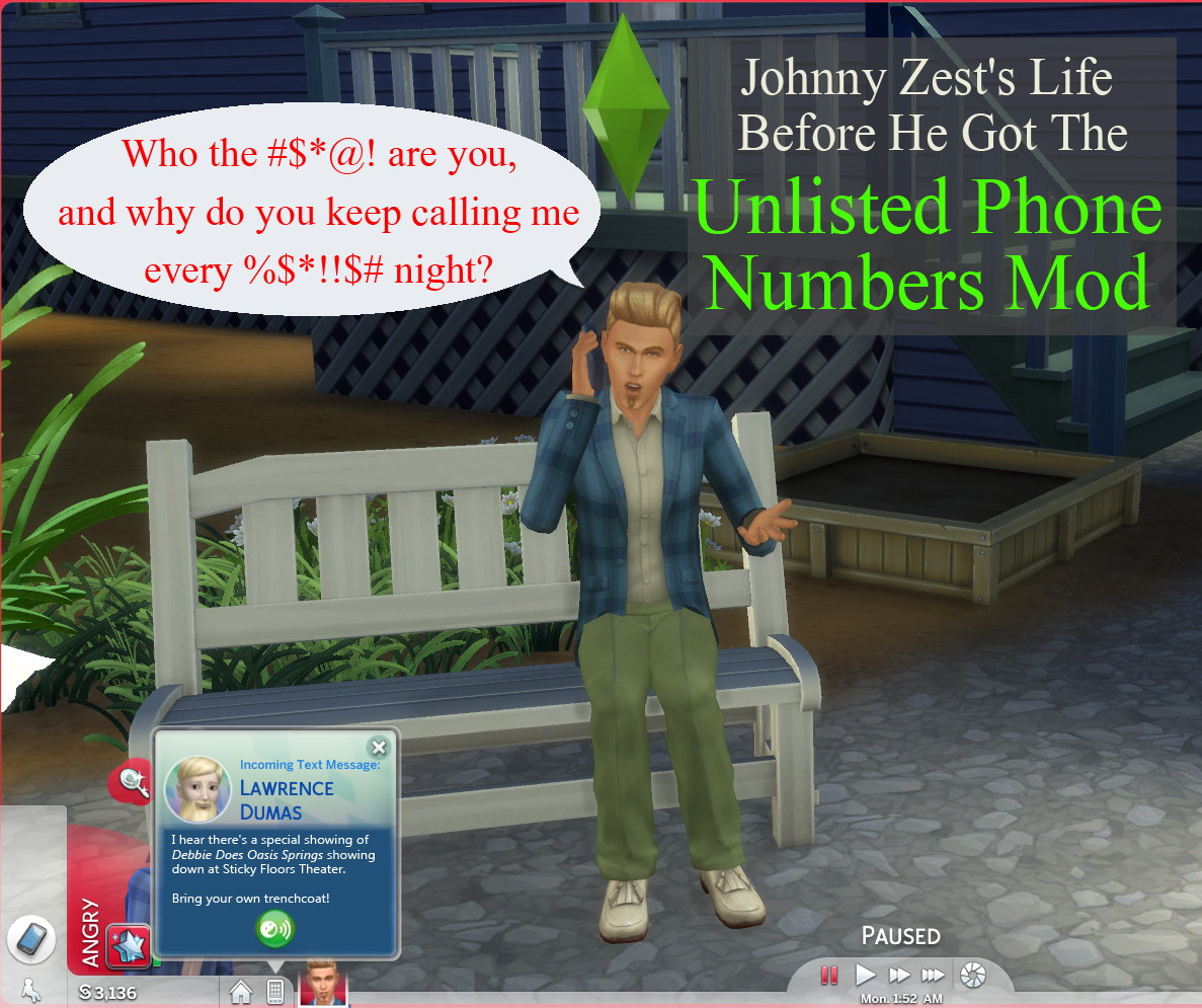 Mod The Sims - Unlisted Phone Numbers