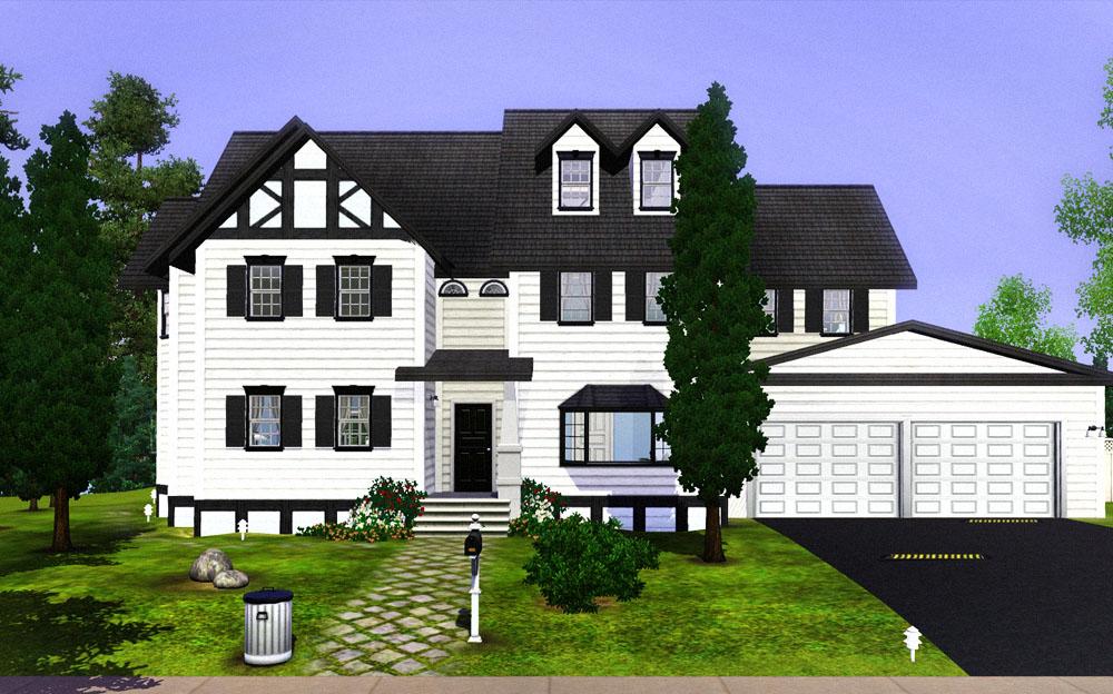 The White Wood House With Split Level Stairs 4 Levels And Double Garage