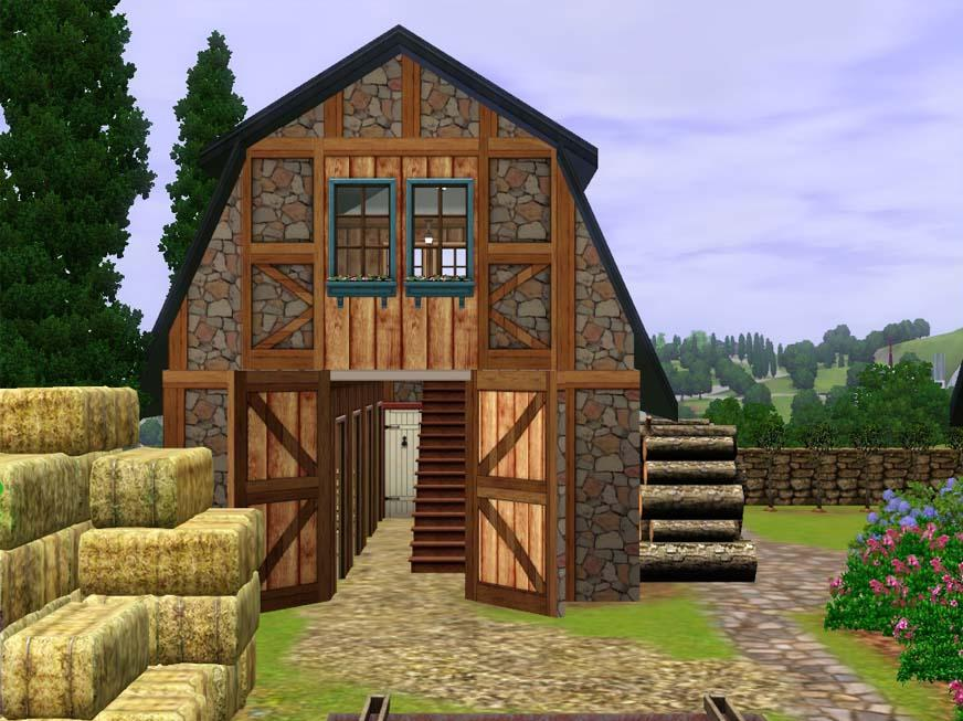 Mod the sims french country farm house for Farmer home