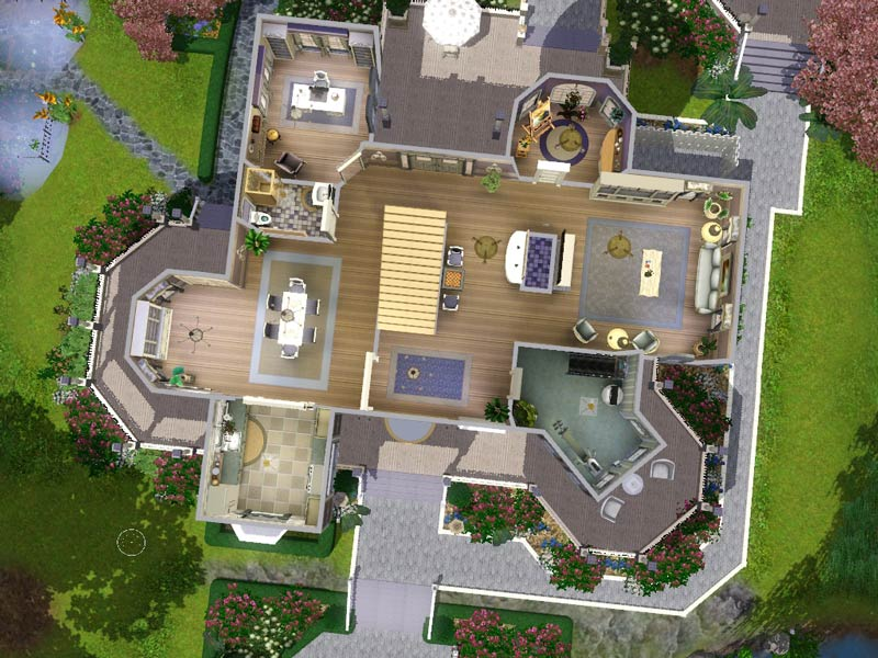 Mod the sims wisteria hill a grand victorian estate for Mansion floor plans sims 4