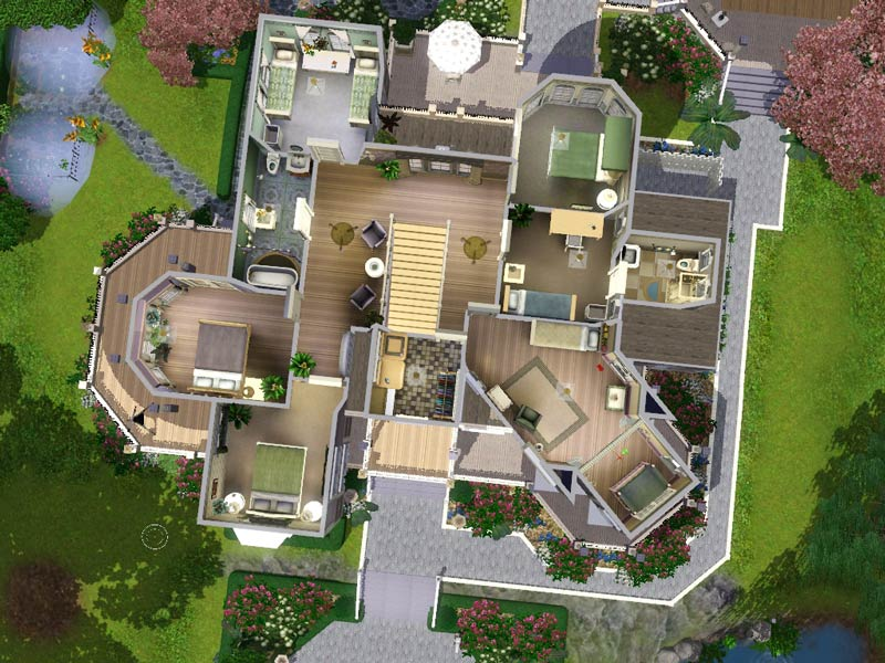 Mod the sims wisteria hill a grand victorian estate for Sims 3 mansion floor plans