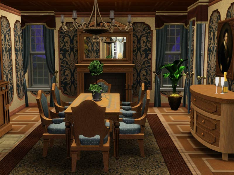 Mod the sims hummingbird lane victorian no cc for Sims 3 dining room ideas