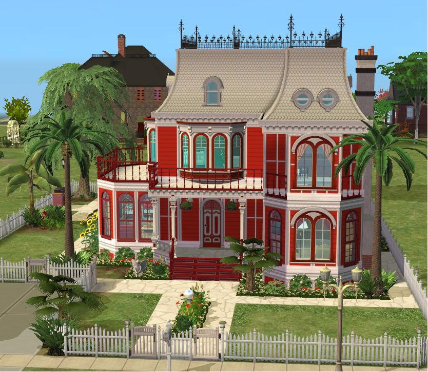 Mod The Sims Victorian Valentine A Small Lot Mini Mansion