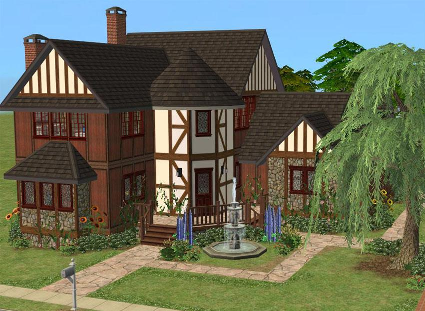 Mod the sims wrexham manor an english country house for English country manor house plans
