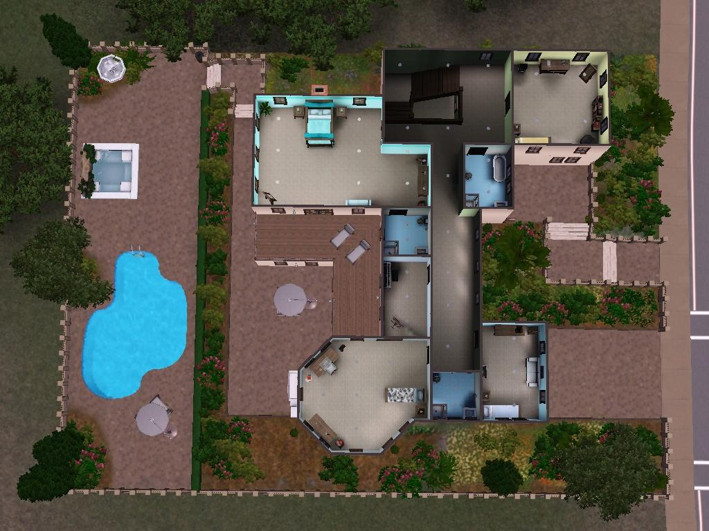 Mod The Sims 272 Windsor Drive Large Family Home