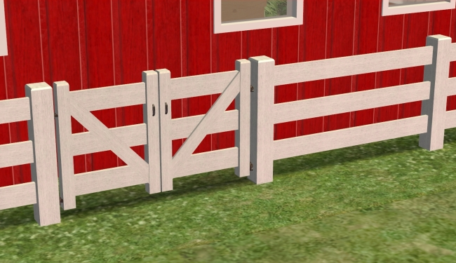 Mod The Sims 3 Rail Country Fence With 1 Amp 2 Tile Gates