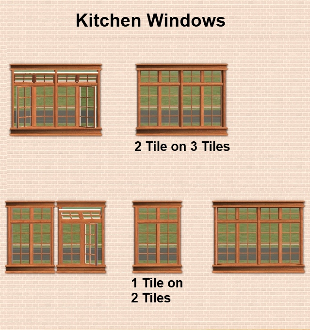 Mod the sims maxis matrix craftsman window set with for Windows windows windows