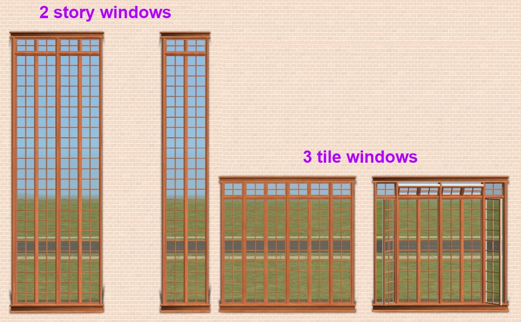 Interior window frames - Mod The Sims Maxis Matrix Craftsman Window Set With