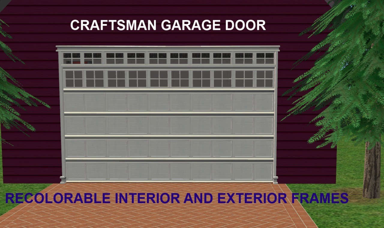 Mod The Sims - Maxis Matrix/Craftsman Garage Door with Recolorable