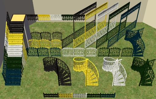 Mod The Sims Wrought Iron Porch Set W Recolorable