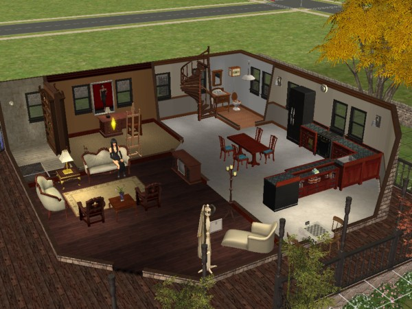 mod the sims gothic house with secret basement