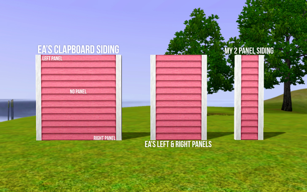 Mod The Sims Ea Match Two Panel Clapboard Siding