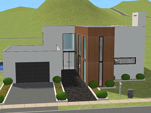Mod the sims modern house 1 for Minimalist house sims 2