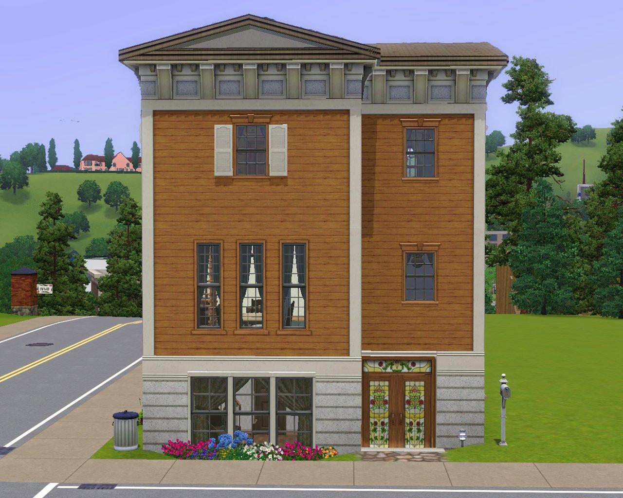 Mod The Sims - Grecian Gables Mini Villa