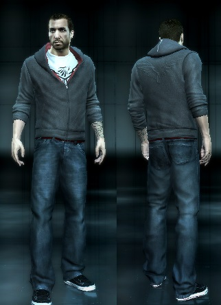 mod the sims desmond miles acr outfit with scar