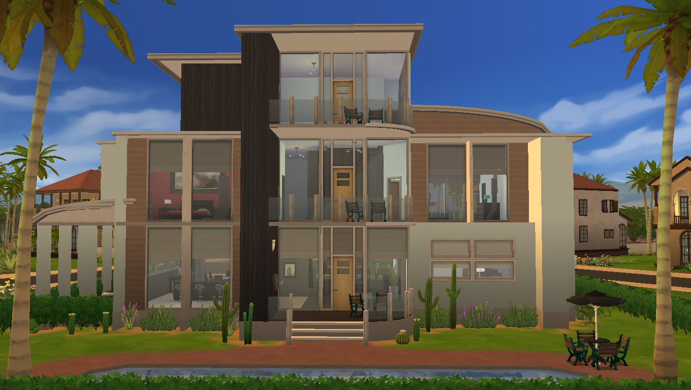 Mod the sims modern oasis a modern family home fixed for House 4