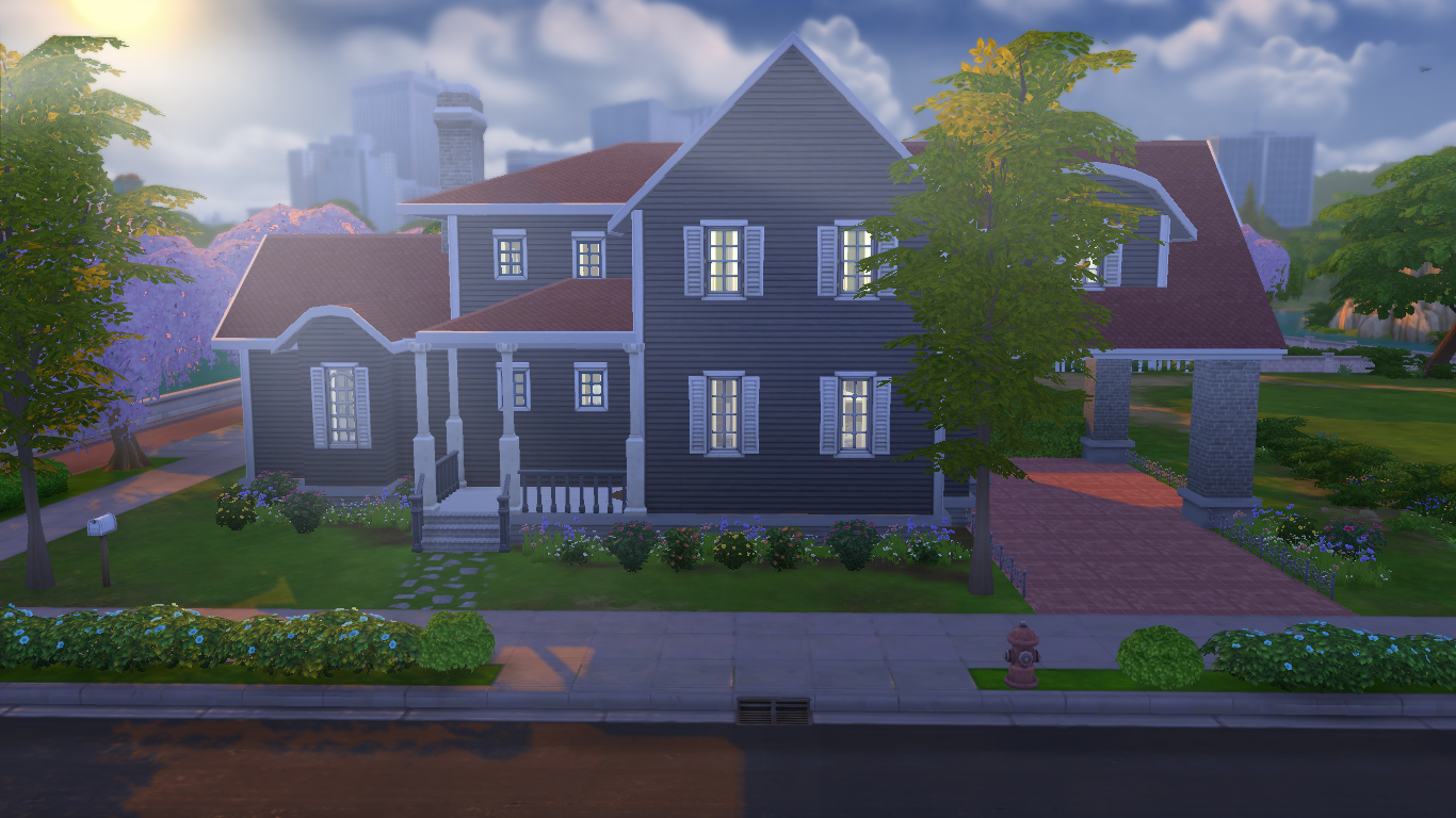 Mod the sims americana 5br 4 5ba for Americana homes