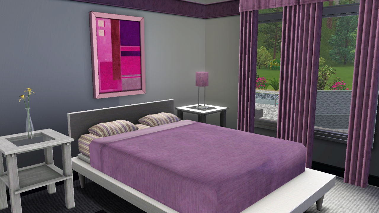 Mod the sims 1960 39 s retro home for Ada bedroom
