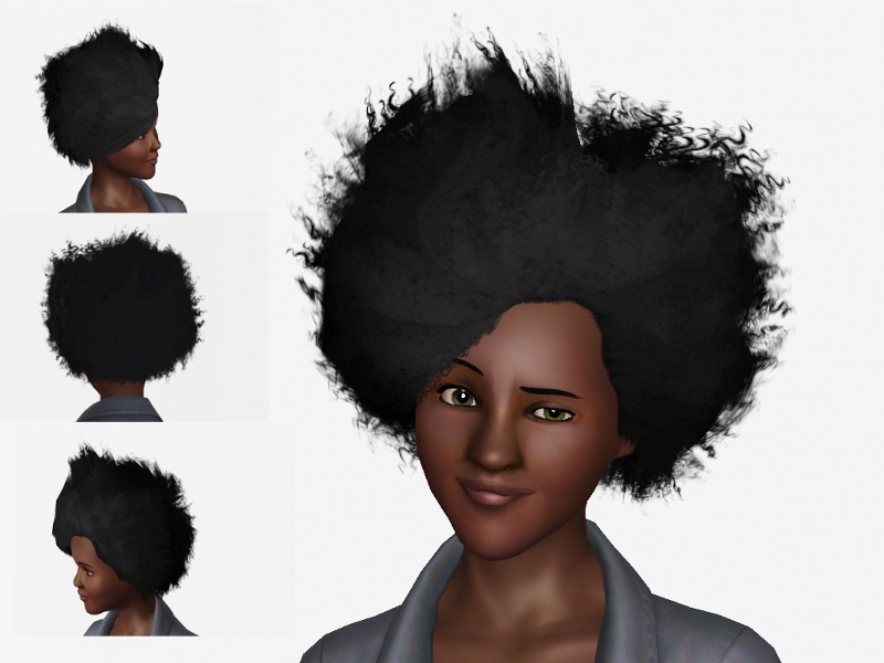 Mod The Sims Updated Gender Flip Wild Fire Fro For The Ladies