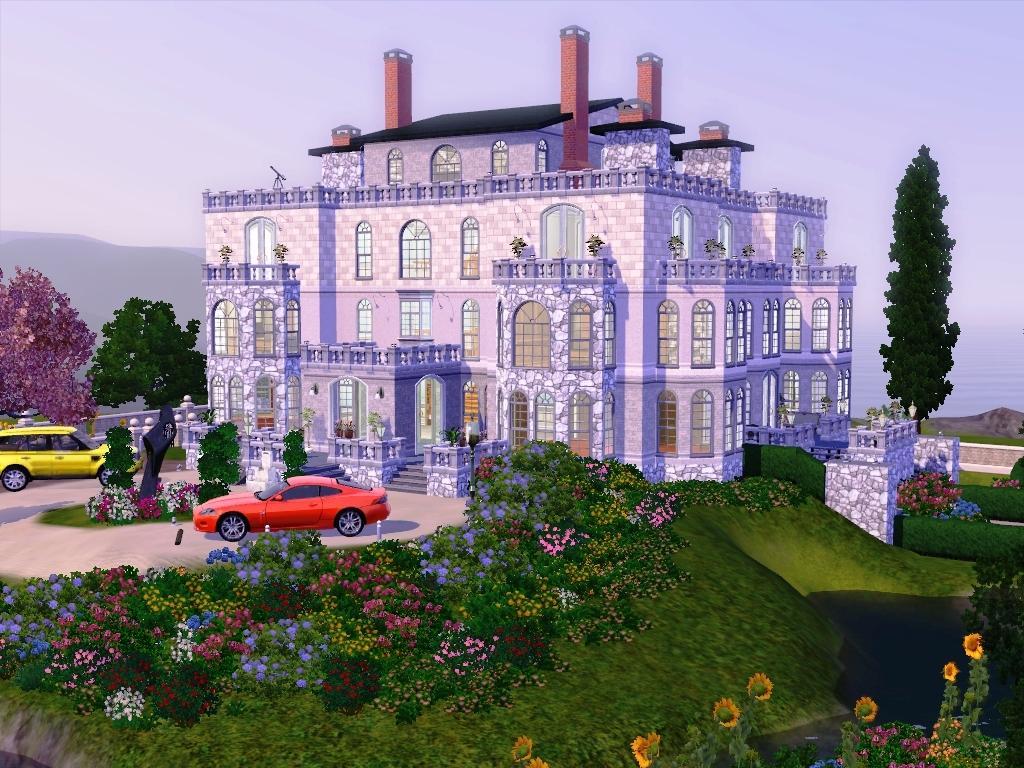 Красивые дома фото симс 3