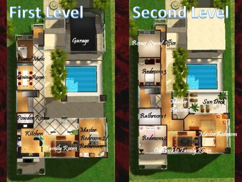 Mod the sims malibu town house for Beach house plans sims 3