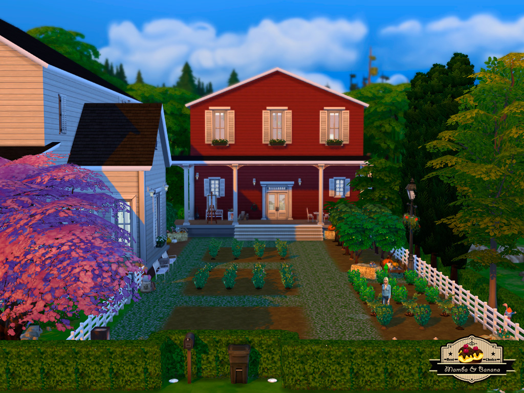 Mod the sims banana street 7 luxury farmhouse for Luxury farmhouses