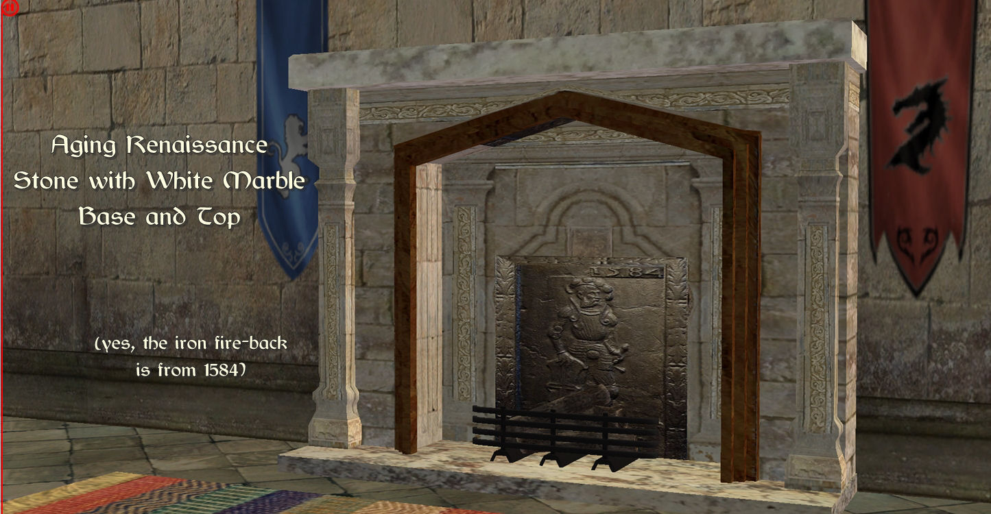 Mod The Sims Medieval Fireplace Recolors