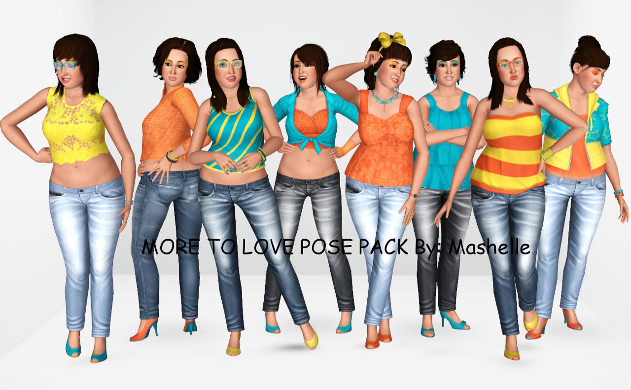 Mod The Sims - More To Love Pose Pack By: Mashelle