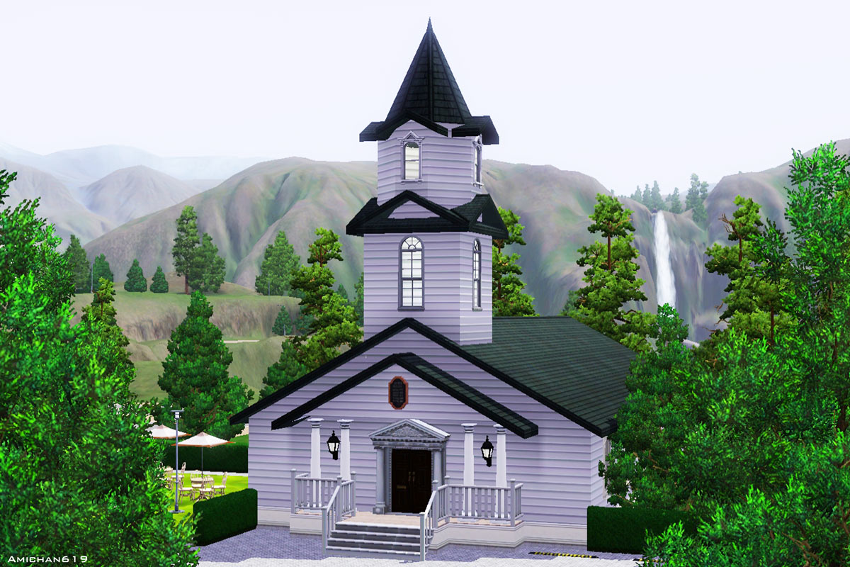 Mod The Sims Quaint Little Chapel Set Three Wedding