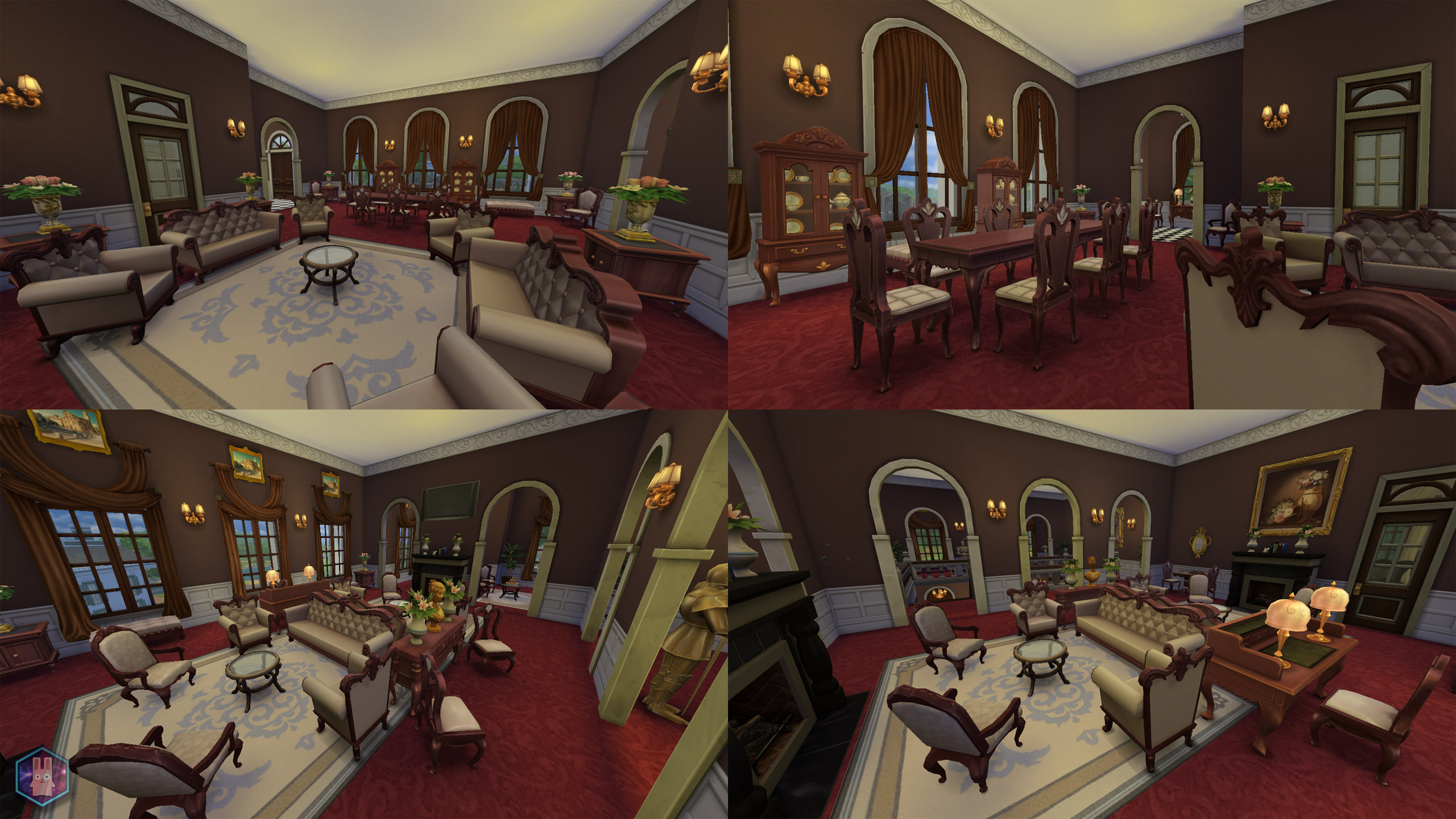 mod the sims petit trianon palace a royal romance no cc. Black Bedroom Furniture Sets. Home Design Ideas