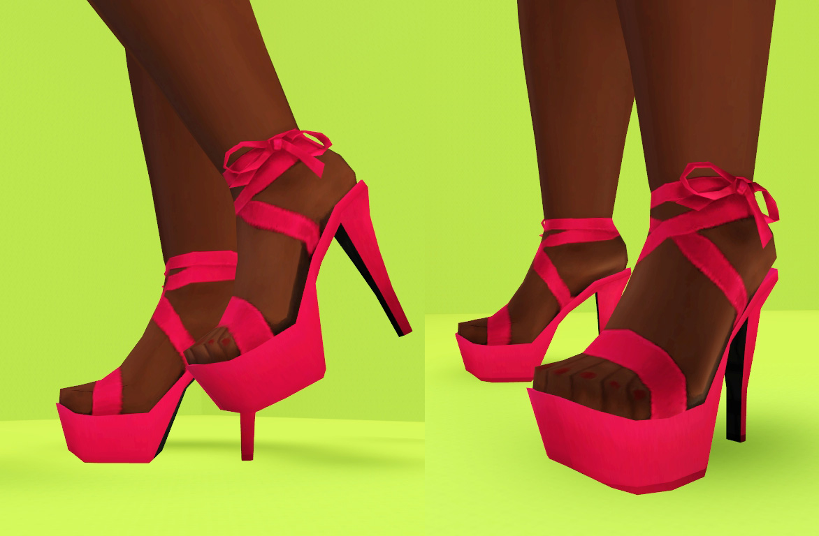 Mod The Sims - I Wanna See Some Cash: Platform Heels