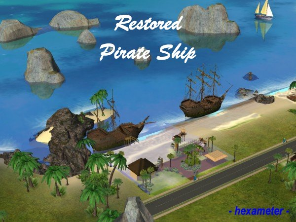 The Sims 2 Pirate Ship