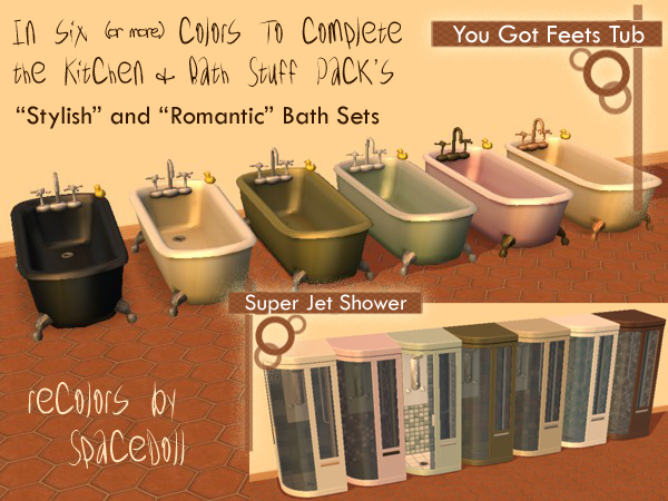 Mod The Sims Spacedoll S Tub And Shower Recolors To
