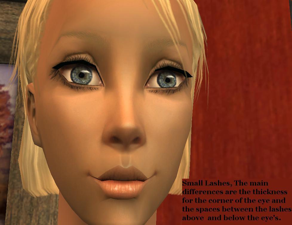 Mod The Sims Replacement Default Natural Eyelashes Eyelashes 101
