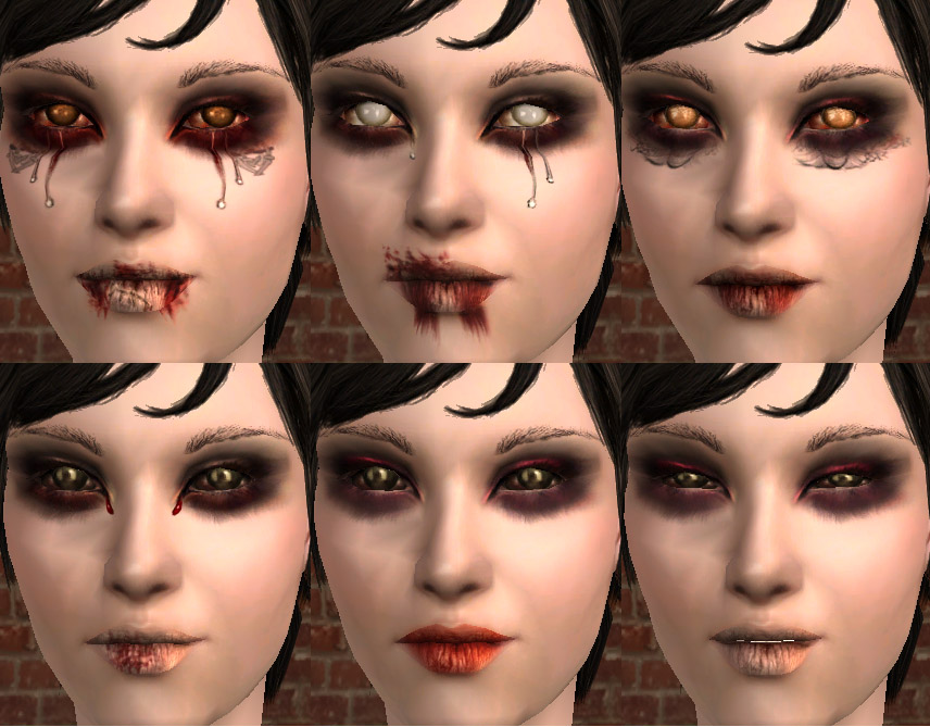 Mod The Sims Special Effects Makeup Spooky Sickly
