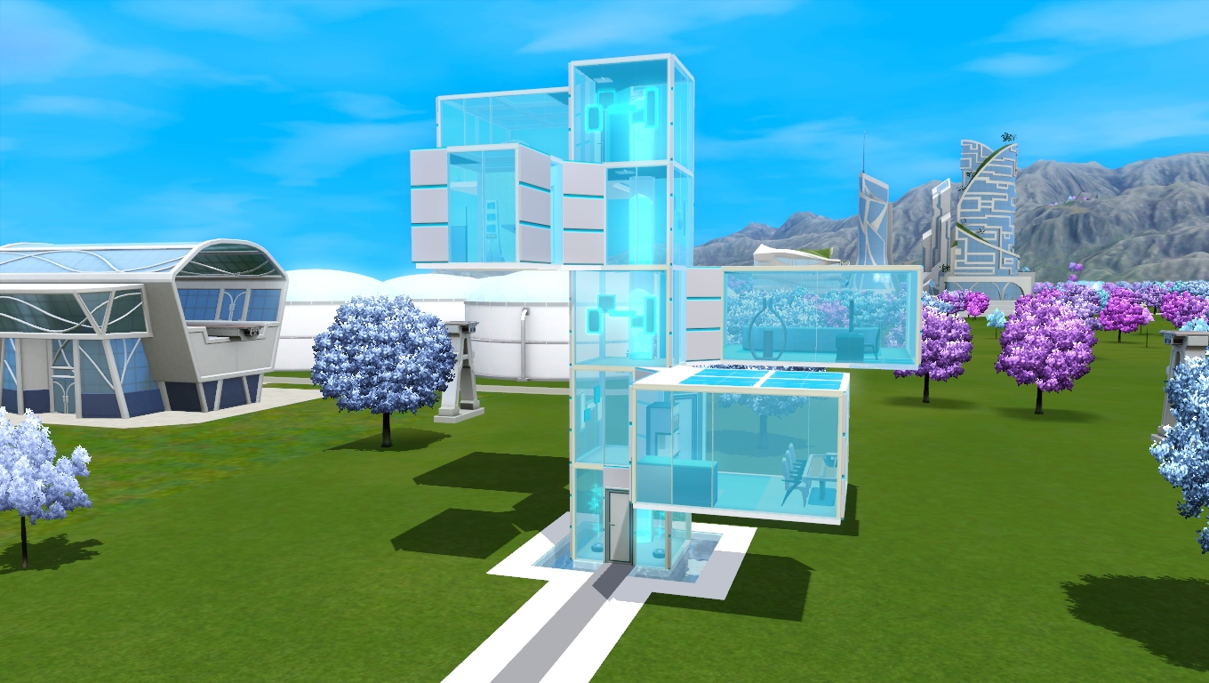 Mid Century Modern Bedroom Ideas Mod The Sims Cyber Cyan Glass House No Cc
