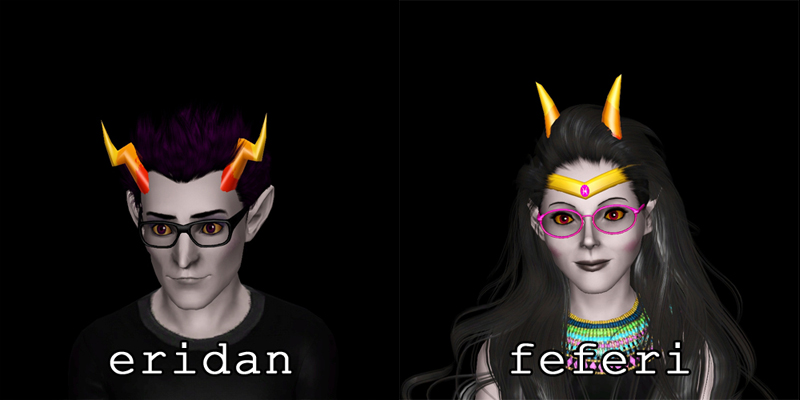 Mod The Sims Simstuck Homestuck Troll Horns For Ts3