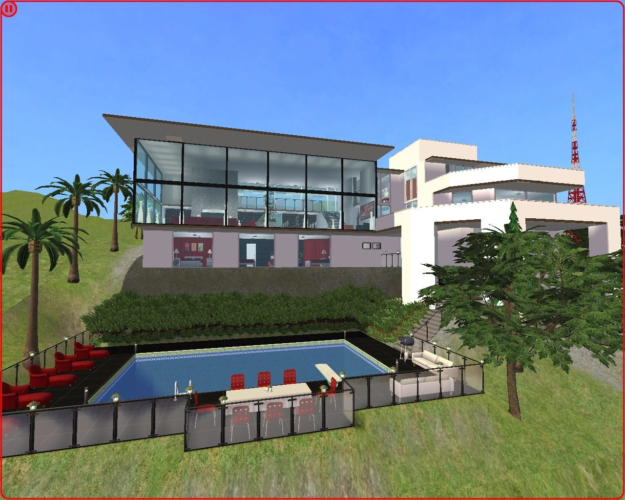 Large modern mountain family house no cc